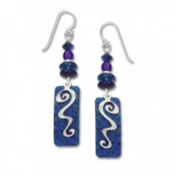 Adajio by Sienna Sky Beaded Blue Column Overlay Earrings 7215 - CR1105690YN