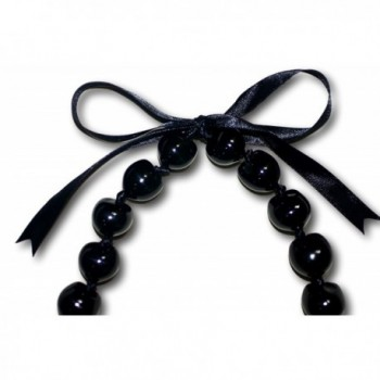 Black Kukui Necklace Chunky Lumbang