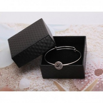 TUSHUO Silver Plated English Automatic Retractable in Women's Bangle Bracelets