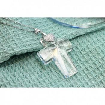 Sterling Pendant Necklace Swarovski Crystals in Women's Pendants