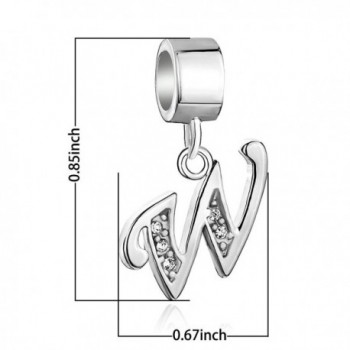 CoolJewelry Sterling Initial Aiphabet Bracelets