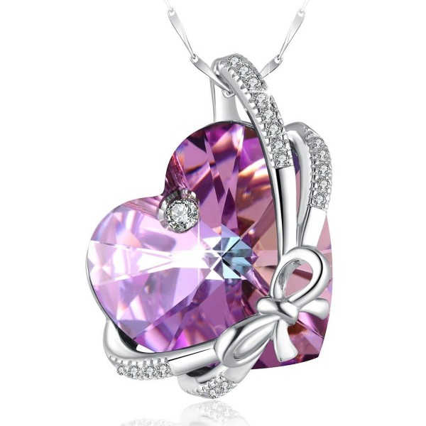 Swarovski Necklace Sterling Braveheart Birthstone - Classical Purple - C317Z5O8GTX