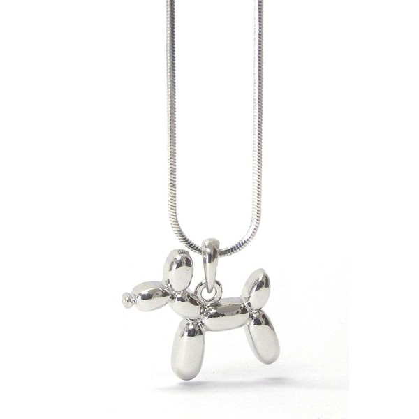 Lola Bella Gifts Balloon Dog Pendant Necklace with Gift Box - CN12O8THLW0