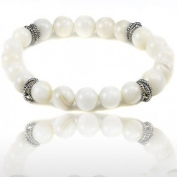 Julie Jewelry | Pearl Stretch Bracelet - White - C9126H655RZ