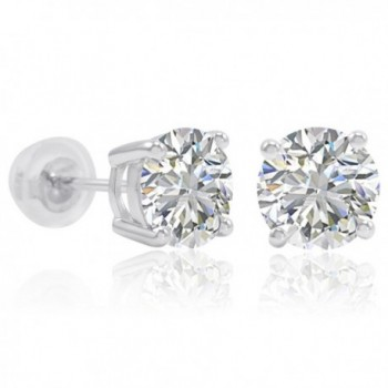 Sterling Silver Earrings Swarovski Zirconia