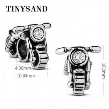 TINYSAND Valentines Hand crafted Motorcycle Bracelets in Women's Charms & Charm Bracelets