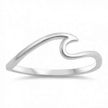 Wave Sea Ocean Thin Swirl Thumb Ring New .925 Sterling Silver Band Sizes 4-10 - CG187YRG97X