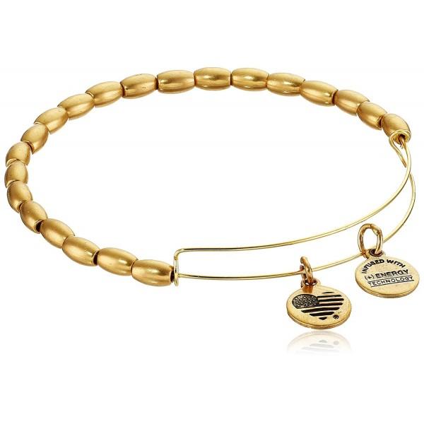 "Alex and Ani Bangle Bar Jordan Expandable Wire Bracelet- 7.75"" - Rafaelian Gold Finish - C9118VNED7B"