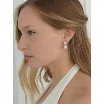Mariell Wedding Bridal Earrings Round Cut