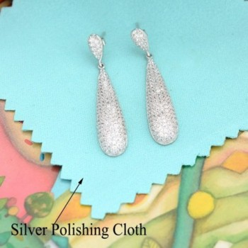 EVER FAITH Sterling Zirconia Engagement in Women's Drop & Dangle Earrings