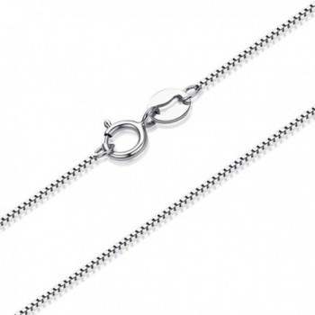 "YAN & LEI .65mm Thin Solid Sterling Silver Box Chain Italian Crafted Necklace- 16""-18"" - CP1204NKEJ1"