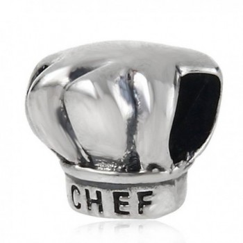 Choruslove I Love Cooking Chef Hat Charm 925 Sterling Silver Bead for European Brand Bracelet - C1128MQV8OH