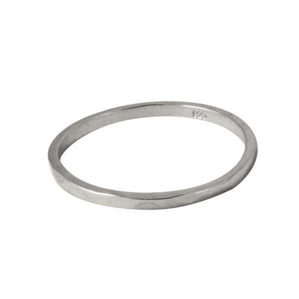 apop nyc Thin Band Ring Sterling Silver Hammered 1.5mm (Size 3 - 9) - CR11DMG745Z