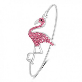 SENFAI Full Rhinestone Flamingo Can Open Bangle for Women - CS185W60ED7