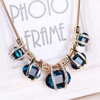 Malloom Fashion Crystal Pendant Statement in Women's Choker Necklaces