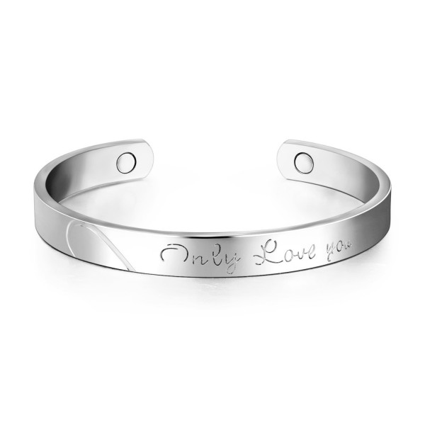 Platinum Bracelet Magnetic Therapy Bracelets - Platinum Plated - CA18983Z7A9