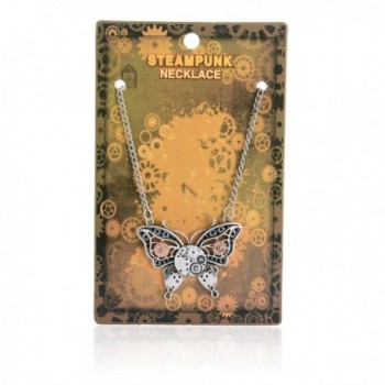 AOLO Antique Butterfly Steampunk Necklace