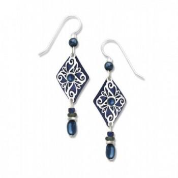 Adajio by Sienna Sky Navy Blue Filigree Kite Bead Earrings 7341 - CS119RC1XLJ