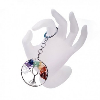 Keychian Natural Crystal Pendant Keyring in Women's Pendants