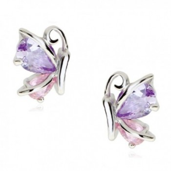 Butterflies Earrings Zirconia Austrian Crystals - CC12MA5IQAN