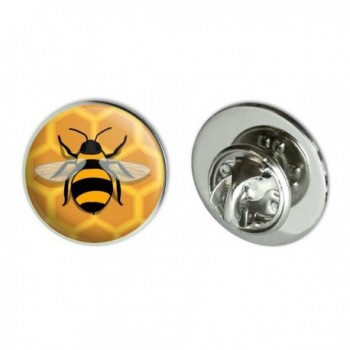 "Bee on Honeycomb Metal 0.75"" Lapel Hat Pin Tie Tack Pinback - CC186I37W37"