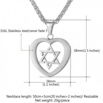 Stainless Steel David Pendant Necklace