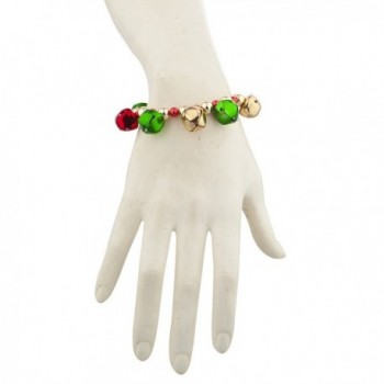 Lux Accessories Goldtone Christmas Bracelet in Women's Stretch Bracelets