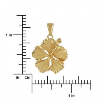 Sterling Silver Hibiscus Necklace Extender in Women's Pendants
