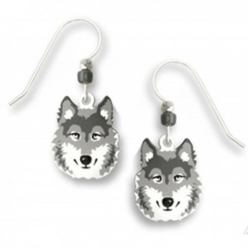 Halloween Gray Wolf Face Earrings by Sienna Sky - CB11GYXP2BB