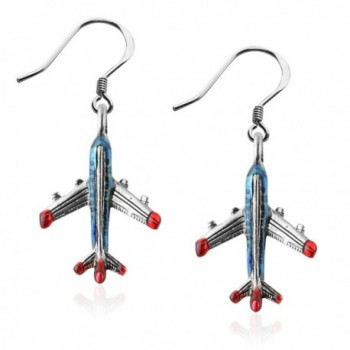 Whimsical Gifts Flight Attendant Charm Earrings - CO12N1K4D5C