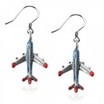 Whimsical Gifts Flight Attendant Charm Earrings - CO12N1K4D5C
