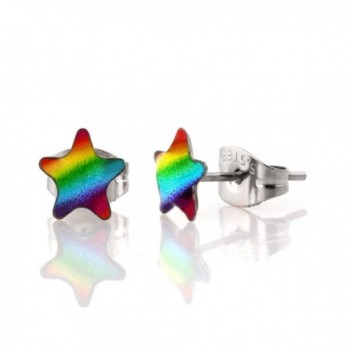 Fun Stud Rainbow Bling Earrings for Women and Girls - CE120D9TSS9