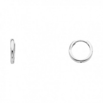 14k Yellow OR White Gold 1.5mm Thickness Huggie Earrings (8 x 8 mm) - CU12DUBNMBB