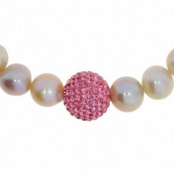 Freshwater Cultured Stretch Bracelet Crystal in Women's Stretch Bracelets