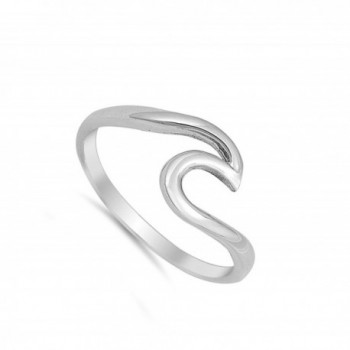 Wave Polished Fashion Sterling Silver