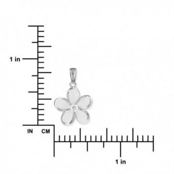 Sterling Silver Plumeria Necklace Extender in Women's Pendants