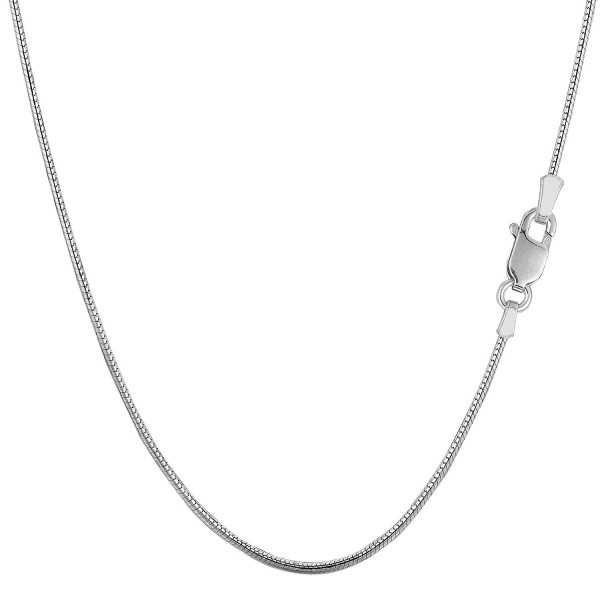 Sterling Silver Rhodium Plated Round Snake Chain Necklace- 1.1mm - C3115LVKHAH
