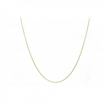 Chelsea Jewelry Basic Collections 1.5mm Wide Round Box Chain Necklace. (22 inches gold plated base) - C912N3B19IY