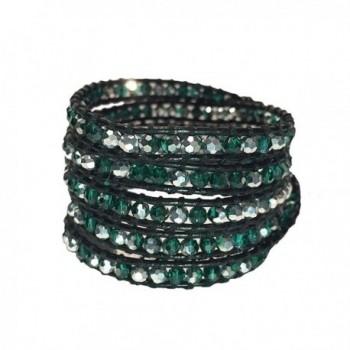 Green and Silver Gemstone Wrap Bracelet | Emily LaRosa - CH12BL0I9ZR