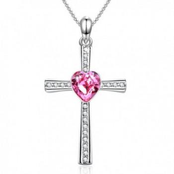 Necklace Religious Crystals Swarovski Valentine - ruby - CD185RGZDWN