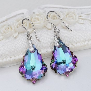 EleQueen Sterling Earrings Swarovski Crystals
