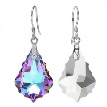 EleQueen Sterling Earrings Swarovski Crystals in Women's Drop & Dangle Earrings