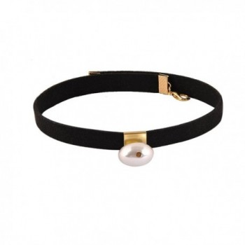 Pusheng Black Suede Choker Simulated