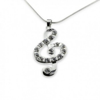 Silver Music Note Treble Clef Pendant Mood Necklace Jewelry Best Christmas Gift for Teen Girl Women - C211R3HJ6IH