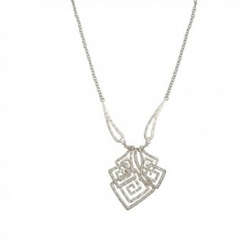 Silver Geometric Square Necklace Earring in Women's Jewelry Sets