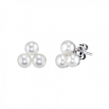Triple White Freshwater Cultured Pearl Esther Earrings - CX184W0WTNA