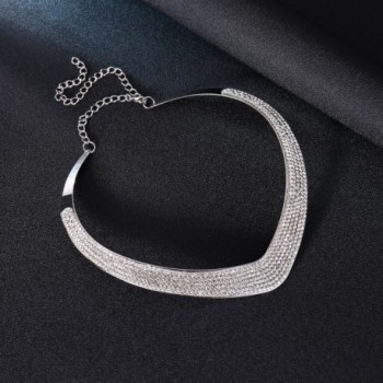 Wedding Jewelry Crystal Necklace Statement in Women's Collar Necklaces
