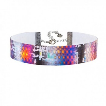 Twilight's Fancy Robot Circuit Board Lenticular Hologram Choker Necklace - CJ1820SGHKC