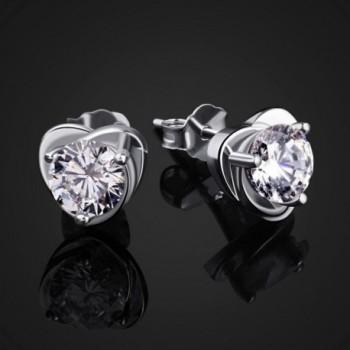 B Catcher Sterling Zirconia Earrings Valentines in Women's Stud Earrings