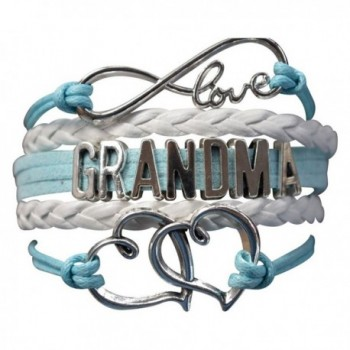 Grandma Bracelet- Grandma Jewelry Makes Great Grandma Gifts(Blue & Pink Available) - Blue - CB12CE3W2I5